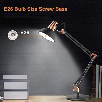 LEPOWER Metal Desk Lamp, Adjustable