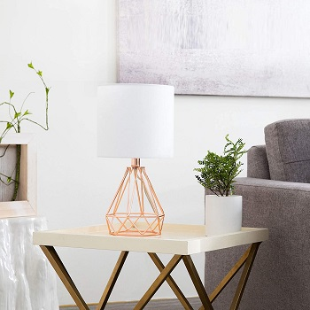 LETRA Rose Gold Table Lamp with