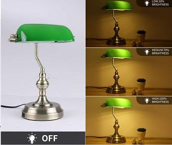 Liylan Banker's Desk Lamp with USB Charging Port