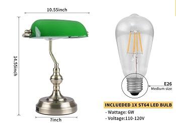 Liylan Banker's Desk Lamp