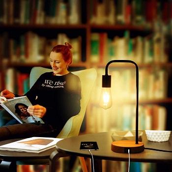MLAMBERT Touch Control Table Lamp, USB Desk Lamp