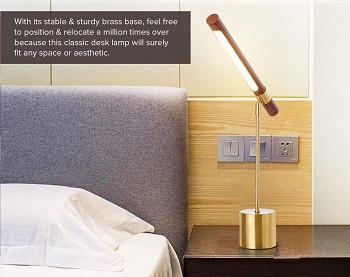 Modern Banker Slim Table Lamp