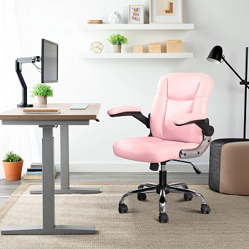 Myka's Leather Office Chair