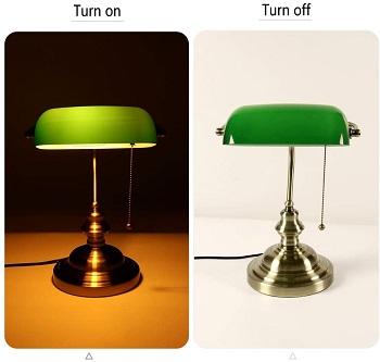 Newrays Green Glass Desk Lamp