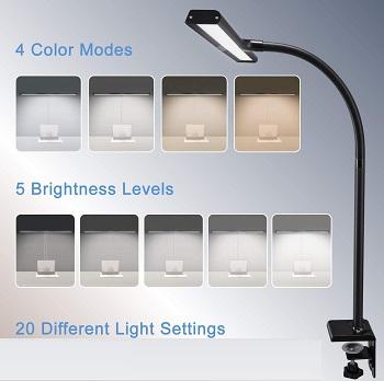 PHIVE LED Desk Lamp, Architect Clamp