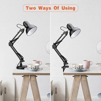 PowerKing Metal Swing Arm Desk Lamp