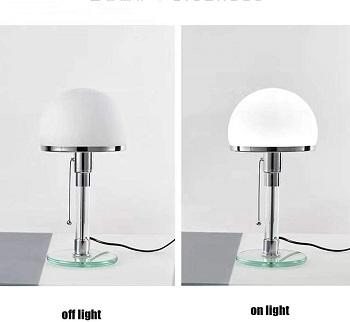 QINX Simple Glass Table Lamp Bauhaus