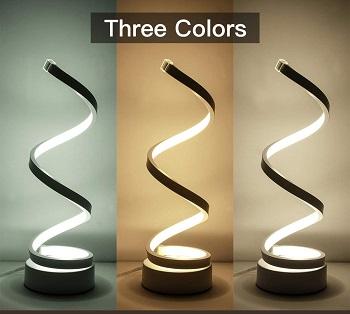 Spiral LED Desk Lamp, Curved Table Lamp,