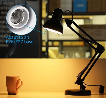 TORCHSTAR Metal Swing Arm Desk Lamps, Adjustable