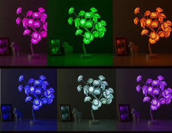 Tabe Lamp Color Changing Flower Tree