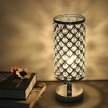 Tomshine Crystal Table Lamps Silver