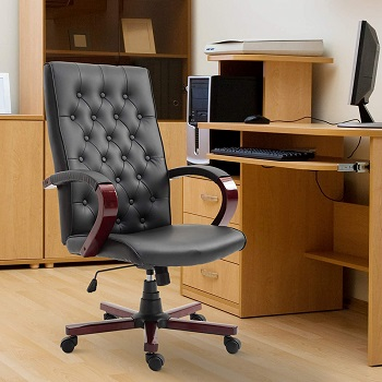 best ergonomic leather conference chair