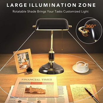 cucian Traditional Bankers Lamp
