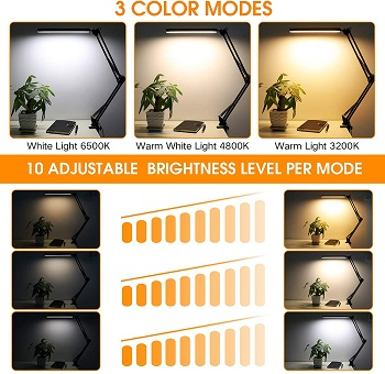 enoch LED Desk Lamp, ENOCH 14W Eye-