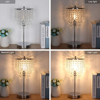 grandview Touch Control Crystal Table Lamp
