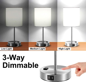 litosky Touch Control Table Lamp, 3-Way