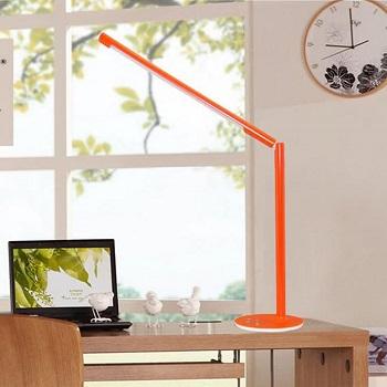 orange desk lamp colorful
