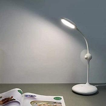storl LED Desk Lamp with Fan Reading Light