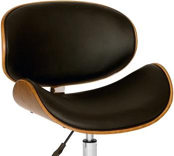Armen Living Black Office Chair