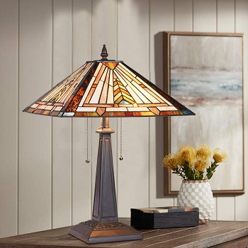 BEST AMBER STAINED GLASS DESK LAMP