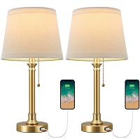 BEST BEDISDE GOLD DESK LAMP WITH USB PORT PICKS