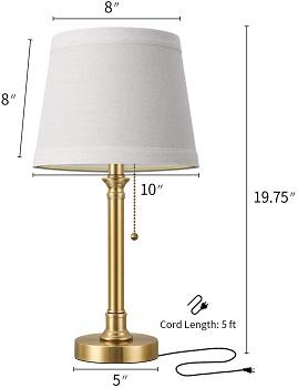 BEST BEDISDE GOLD DESK LAMP WITH USB PORT