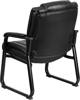 BEST BLACK LEATHER WAITING ROOM CHAIR