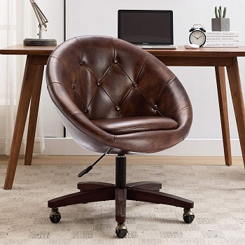 BEST CHEAP TUFTED LEATHER DESK CHAIR
