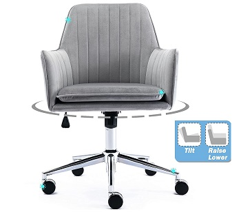BEST FOR STUDY MODERN GREY OFFICE CHAIR