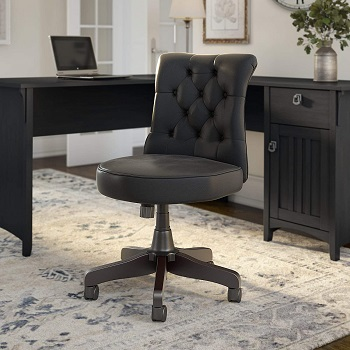 BEST FOR STUDY TUFTED LEATHER DESK CHAIR