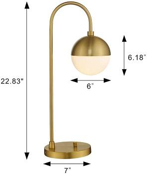 BEST GLOBE GLASS DESK LAMP