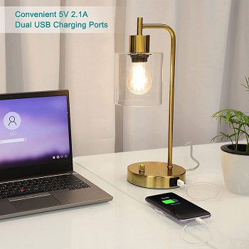 BEST MODERN GOLD DESK LAMP WITH USB PORT