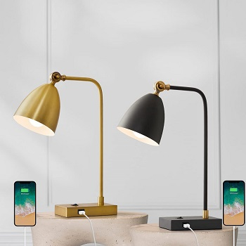 BEST READING GOLD DESK LAMP WITH USB PORT
