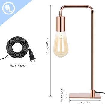 BEST SMALL ROSE GOLD DESK LAMP