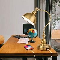BEST VINTAGE GOLD DESK LAMP WITH USB PORT picks