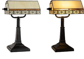 BEST VINTAGE STAINED GLASS DESK LAMP