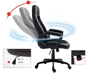 BEST WITH ARMRESTS COMFORTABLE MODERN DESK CHAIR