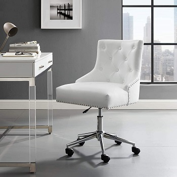 BEST WITH BACK SUPPORT TUFTED LEATHER DESK CHAIR