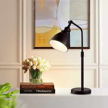 Black Marble Desk Lamp, 17.7