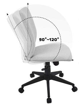 Bowthy Armless Office Chair