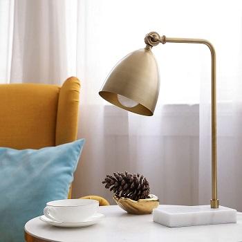 CO-Z Gold Desk Lamp with LED Bulb Adjustable,