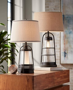 FRANKLIN Farmhouse Industrial Table Lamp with