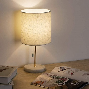 HAITRAL Bedside Table Lamp - Small Nightstand