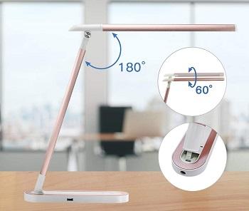 HDTIME-Desk Lamp with USB Charging Port