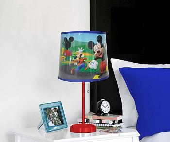 Idea Nuova Disney Mickey Mouse Table Lamp Red