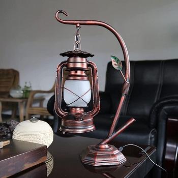 Rarlonly Rustic Lodge Novelty Desk Lamp