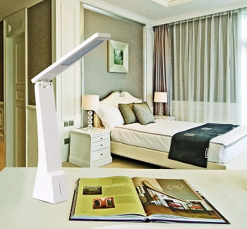 Rechargeable Table Lamp, Battery Operated LED Modern Desk Lamp