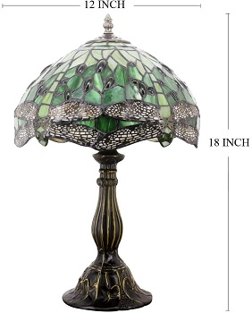 Tiffany Lamp Green Stained Glass