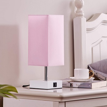 Touch Control Table Lamp with USB Ports