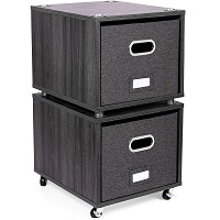 BirdRock Home Rolling File Cabinet with picks